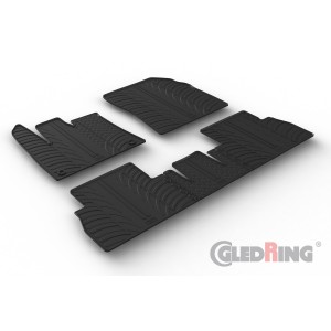 Gumi tepihi za Citroen Berlingo (sovoznikov sedež brez preklopne funkcije/oval fixing)