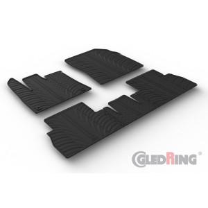 Gumi tepihi za Peugeot Rifter (sovoznikov sedež brez preklopne funkcije/oval fixing)