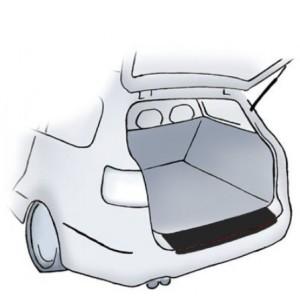 Črna zaščitna nalepka za odbijač Peugeot 807
