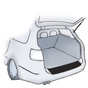 Črna zaščitna nalepka za odbijač Peugeot 207